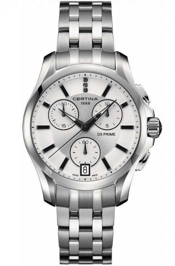 Ladies Certina DS Prime Chronograph Watch C0042171103600