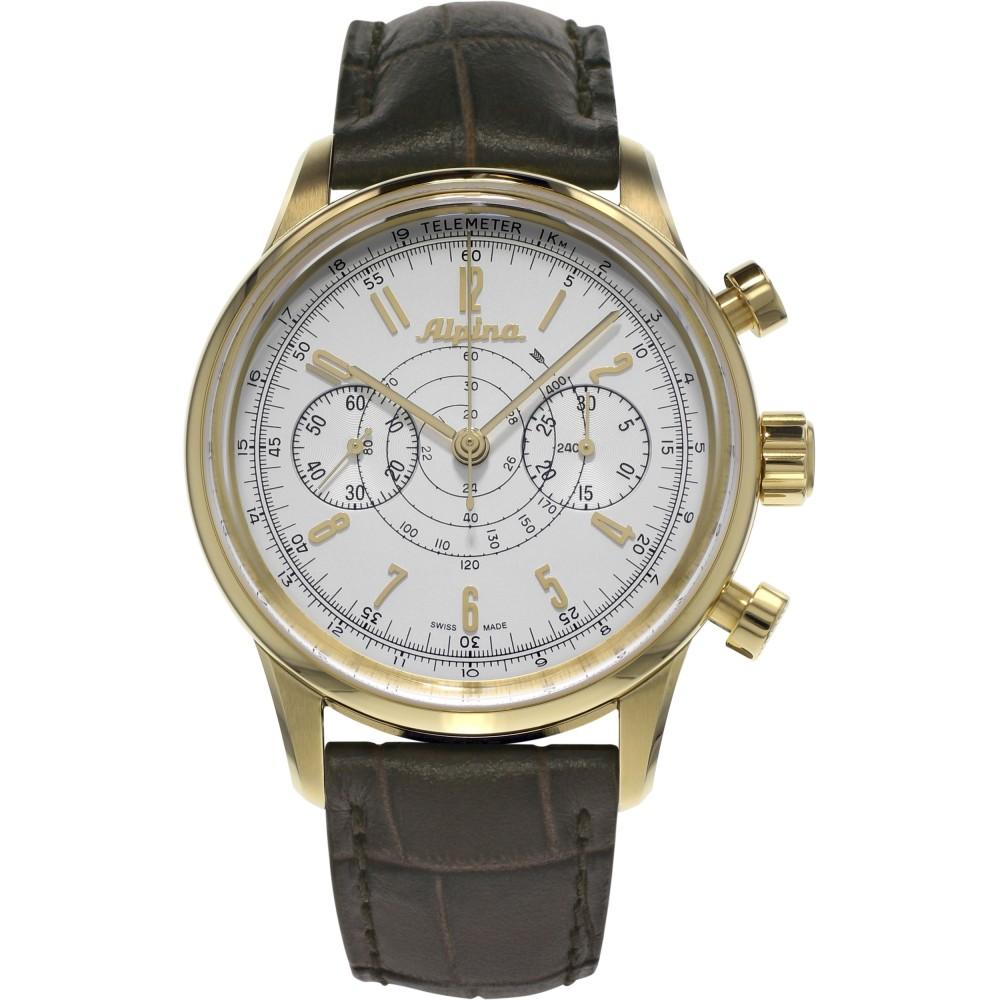 men's Alpina Pilot Heritage 130 automatic chronograph