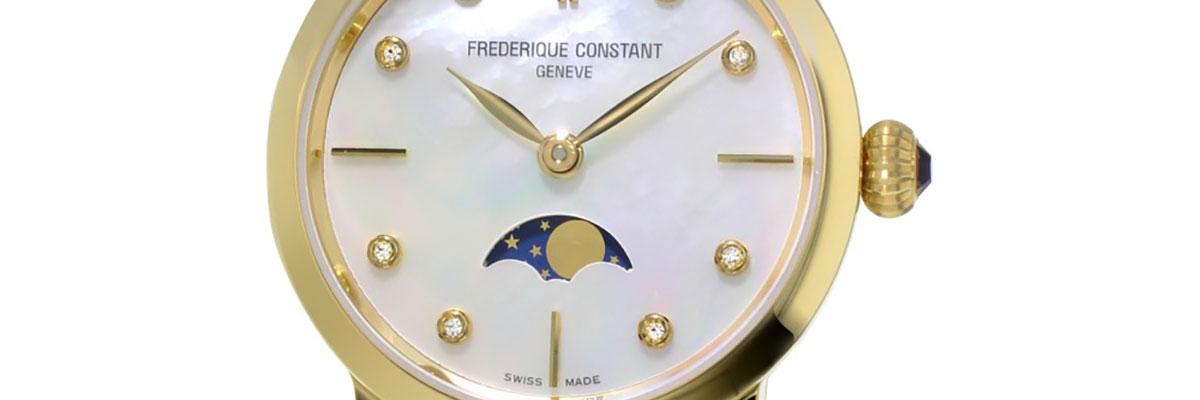Ladies Frederique Constant Slimline Moonphase Diamond Watch FC-206MPWD1S5