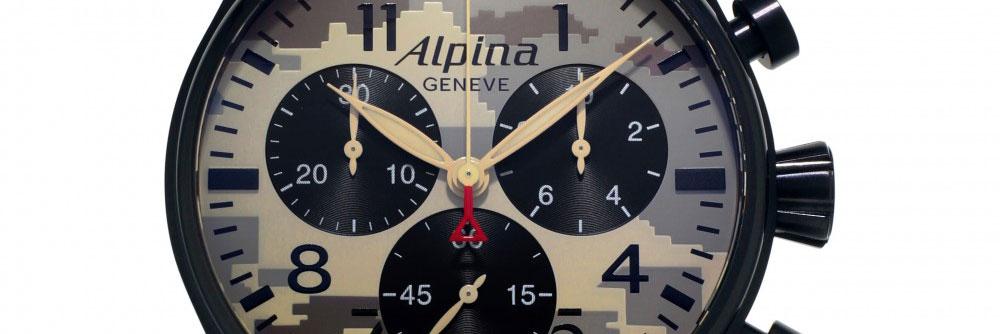Mens Alpina Startimer Pilot Chronograph Watch AL-372MLY4FBS6