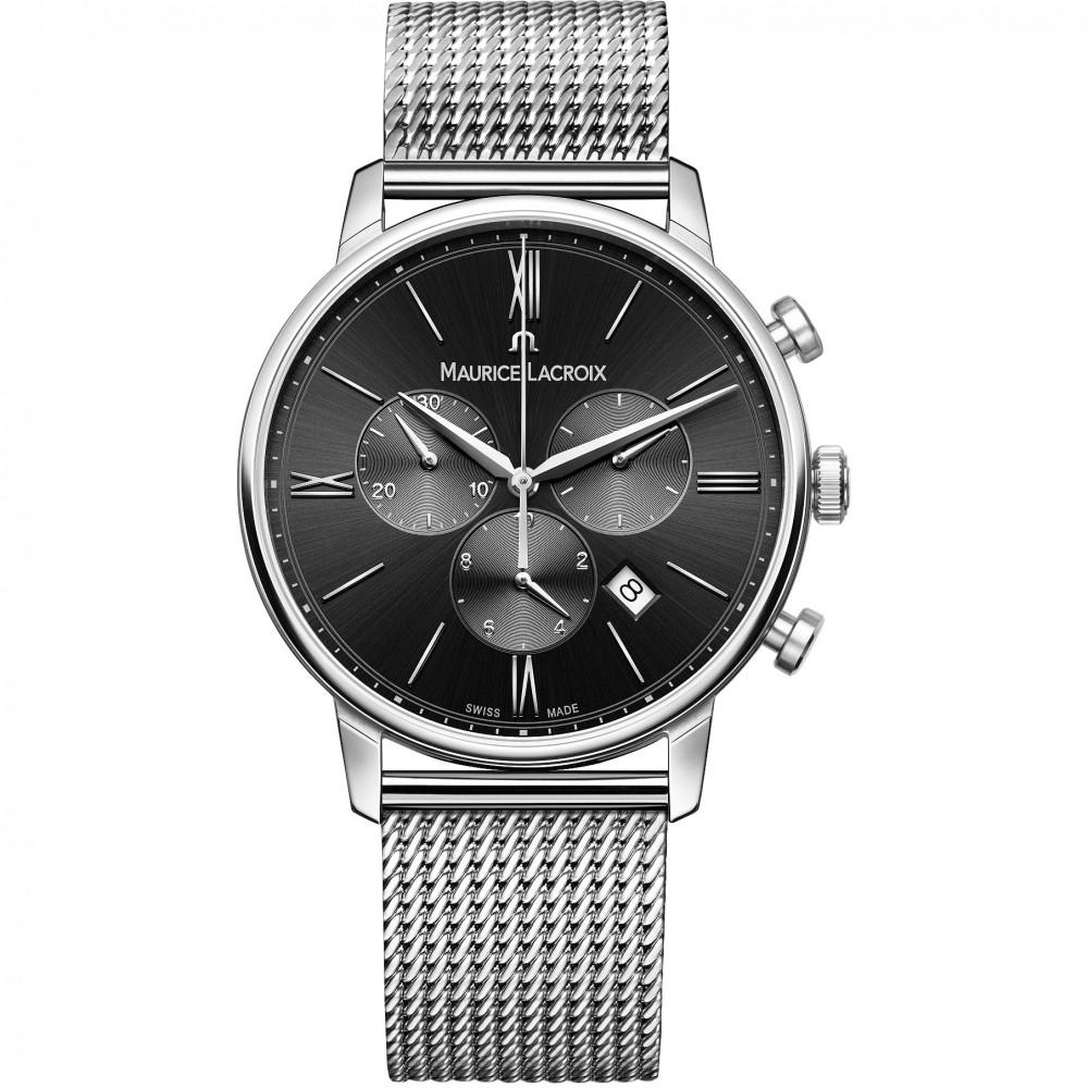 Mens Maurice Lacroix Eliros Chronograph Watch EL1098-SS002-310-1