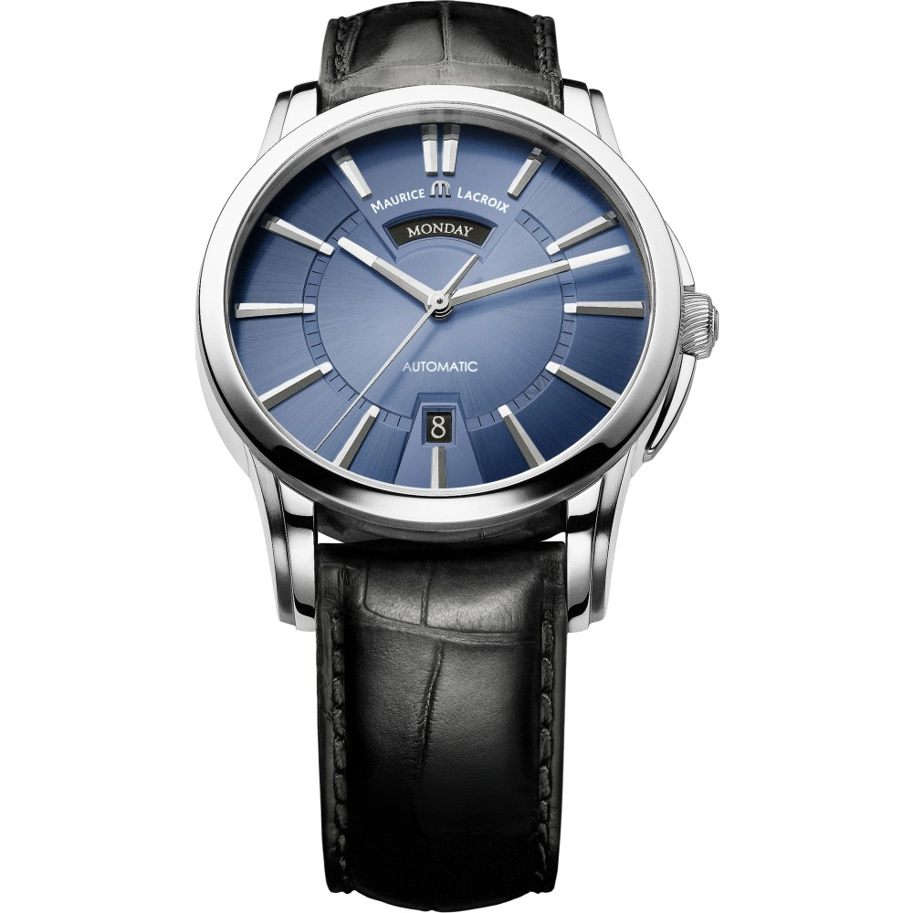 Mens Maurice Lacroix Pontos Day/Date Automatic Watch PT6158-SS001-43E-1