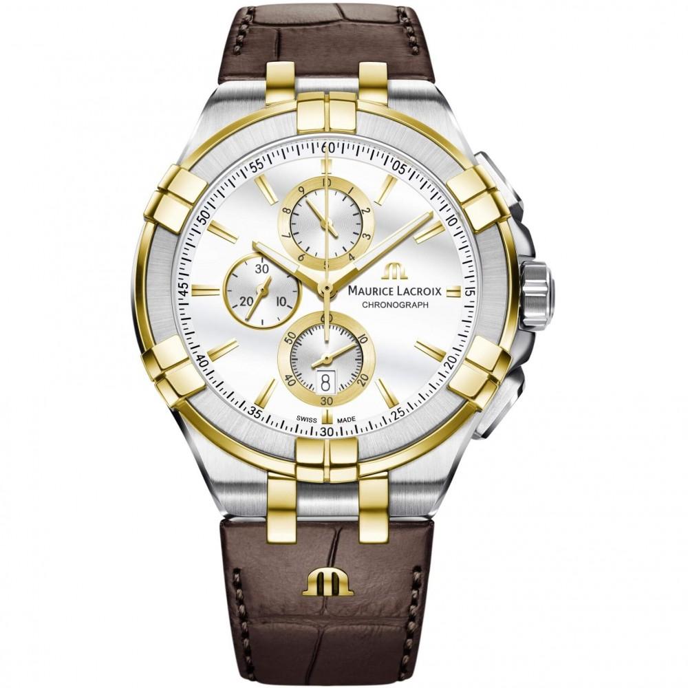 Mens Maurice Lacroix Aikon Chronograph Watch AI1018-PVY11-132-1