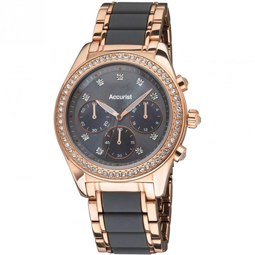 Ladies Accurist Chronograph Watch LB211GR