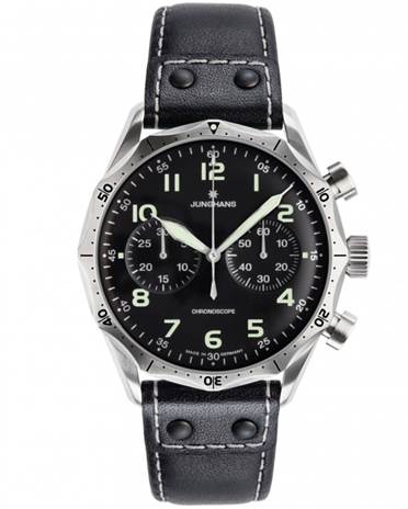 Mens Junghans Meister Pilot Chronograph Watch 027/3590.00