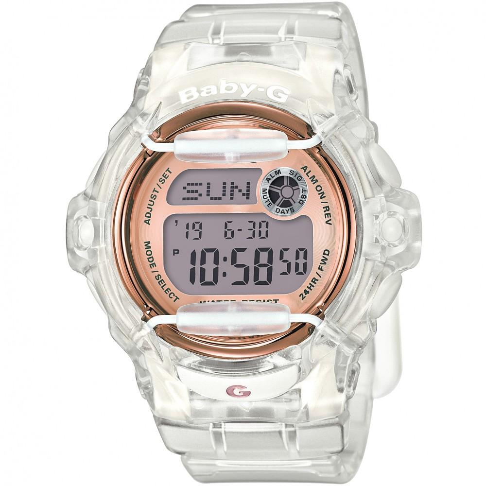 Ladies Casio Baby-G Alarm Chronograph Watch BG-169G-7BER