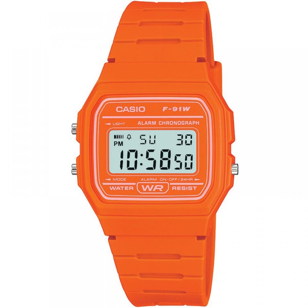 Unisex Casio Classic Alarm Chronograph Watch F-91WC-4A2EF
