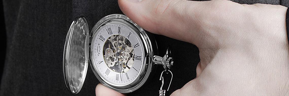 Rotary Pocket Skeleton Mechanical Watch MP00726/01