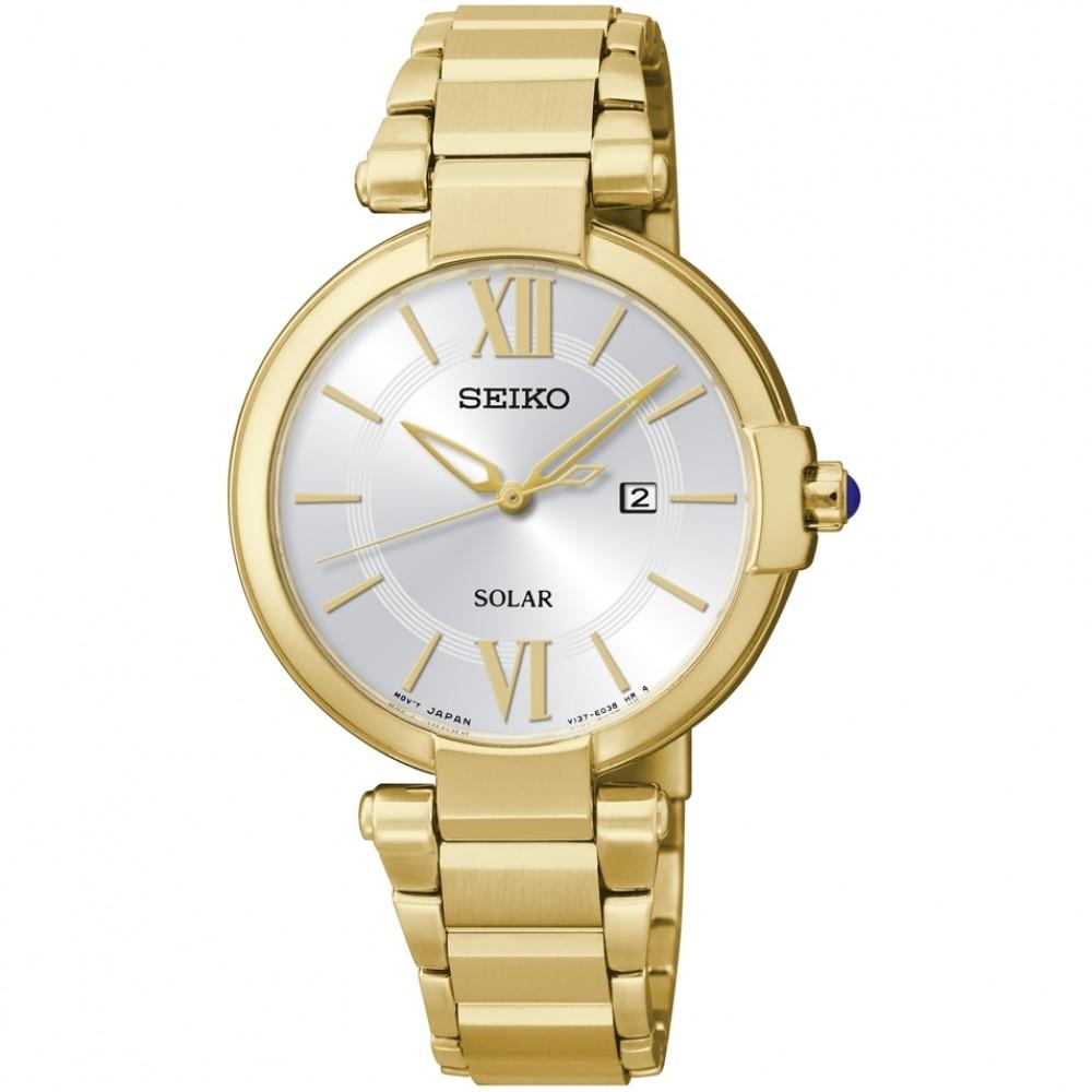 Ladies Seiko Solar Powered Watch SUT158P1