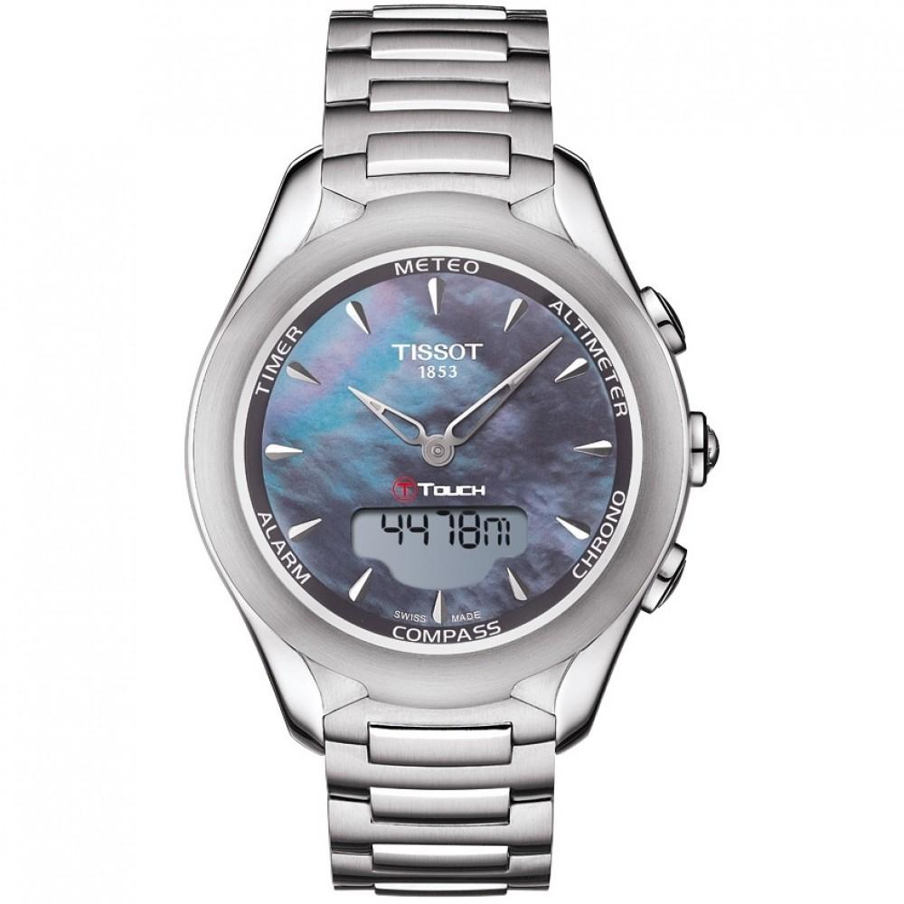 Ladies Tissot T-Touch Solar Alarm Chronograph Solar Powered Watch T0752201110101