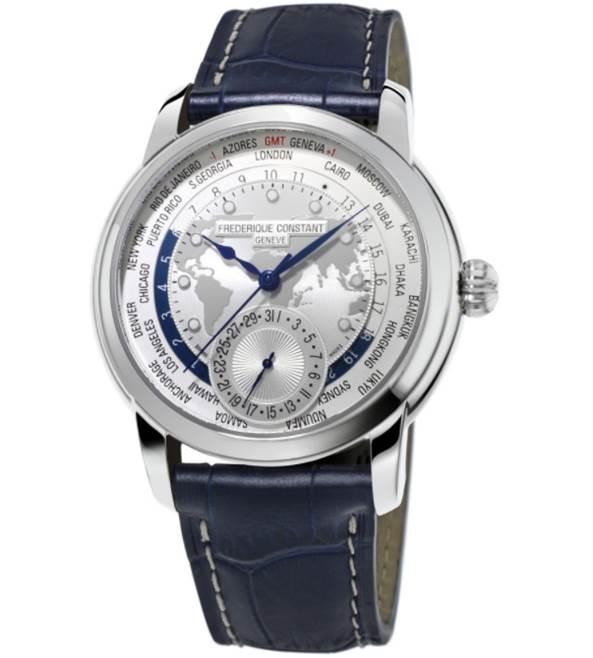 Mens Frederique Constant Manufacture Worldtimer Limited Edition Automatic Watch FC-718WM4H6