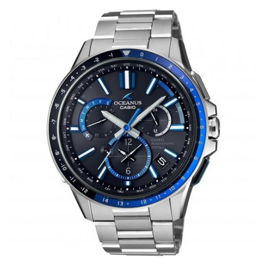 Mens Casio Oceanus GPS Hybrid Alarm Watch OCW-G1100-1AJF