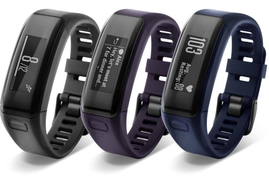 Unisex Garmin Vivosmart HR+ Alarm Chronograph Watch 010-01955-33