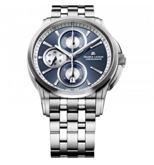 Mens Maurice Lacroix Pontos Automatic Chronograph Watch PT6188-SS002-430-1