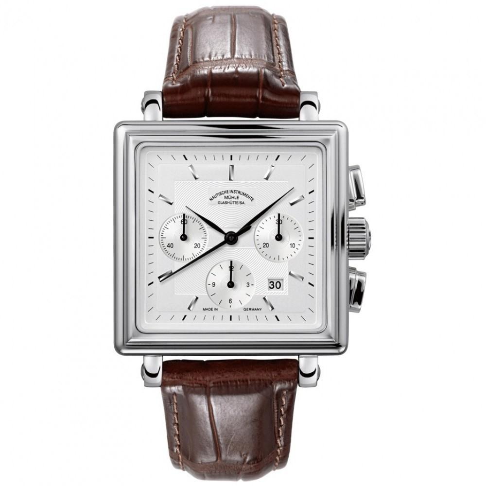 Mens Mühle Glashutte Teutonia II Quadrant Automatic Chronograph Watch M1-33-35-LB