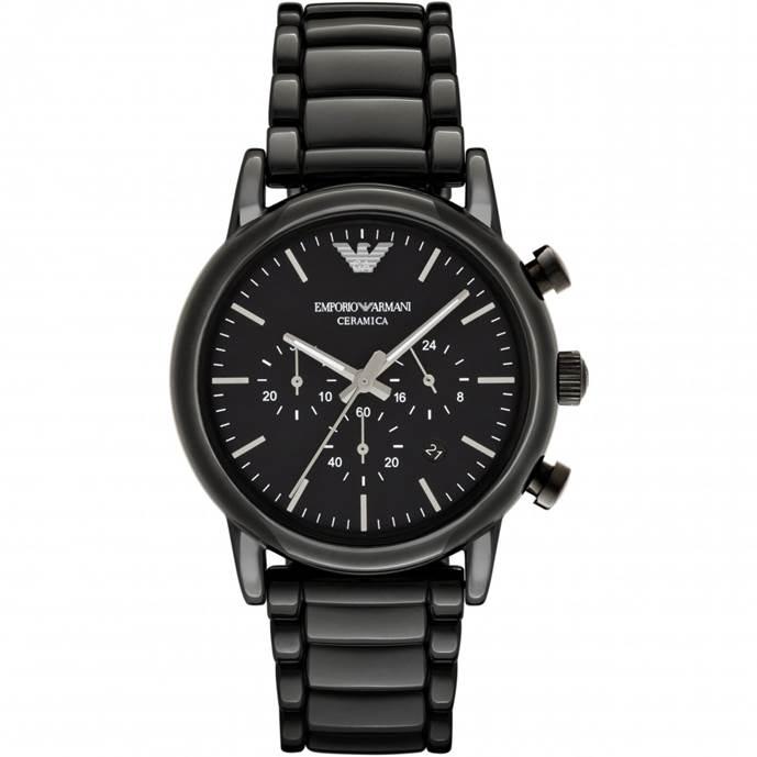 Mens Emporio Armani Ceramic Chronograph Watch AR1507