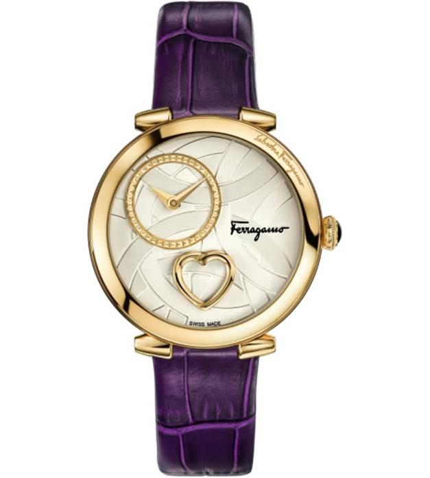Ladies Salvatore Ferragamo Cuore Diamond Watch FE2090016