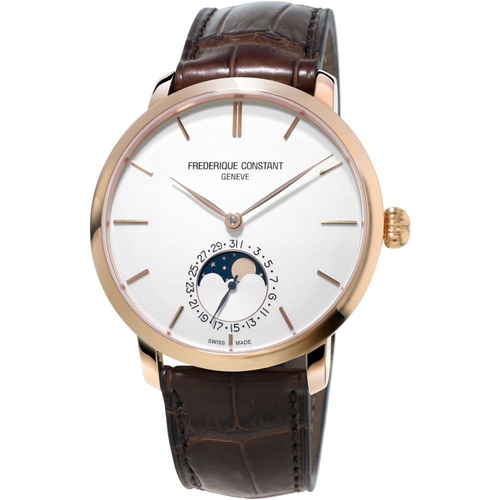 Men's Frederique Constant Slim Line Manufacture Moonphase Automatic Watch
