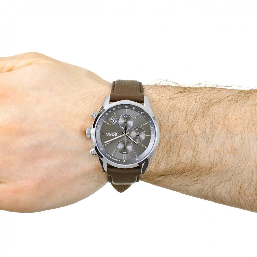mens hugo boss grand prix chronograph watch 1513476. Black Bedroom Furniture Sets. Home Design Ideas