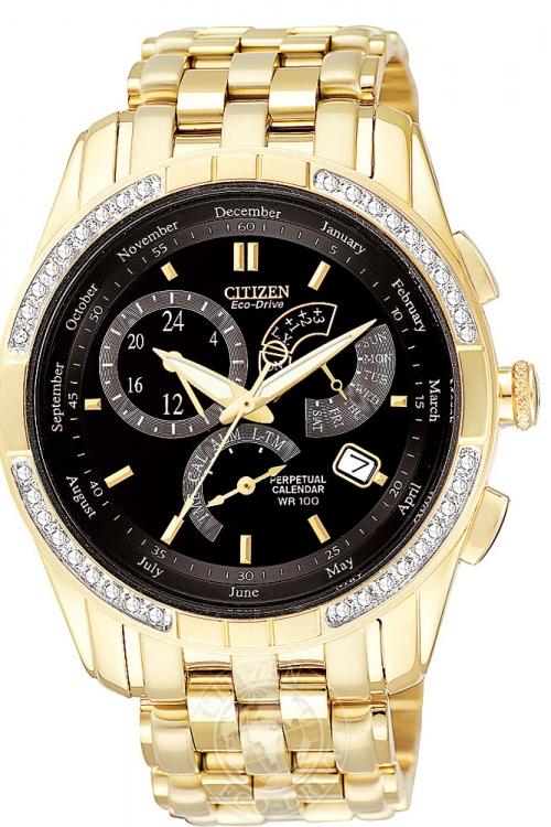 Mens Citizen Calibre 8700 Alarm Diamond Eco-Drive Watch BL8042-54E