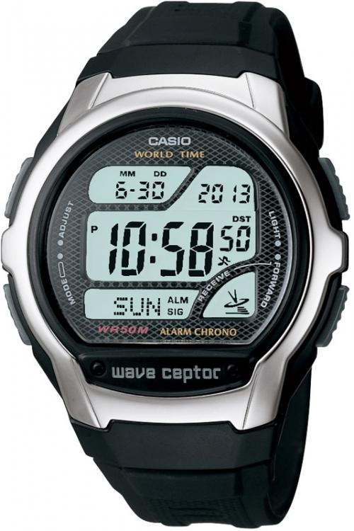 Mens Casio Wave Ceptor Alarm Chronograph Radio Controlled Watch WV-58U-1AVES