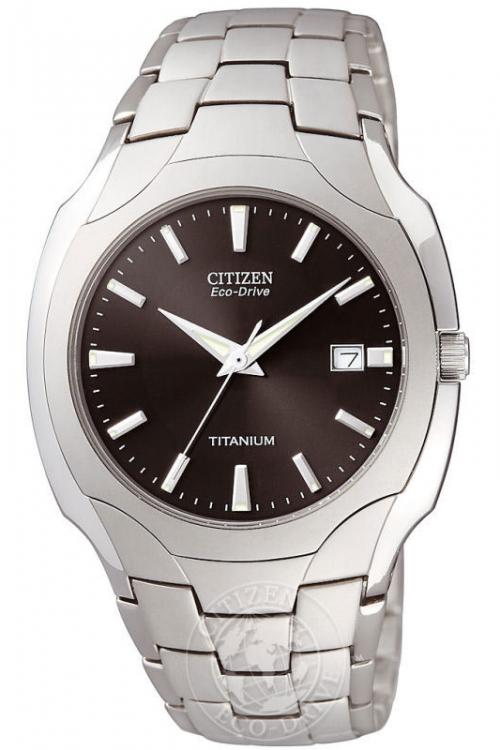 Mens Citizen Titanium Eco-Drive Watch BM6560-54H