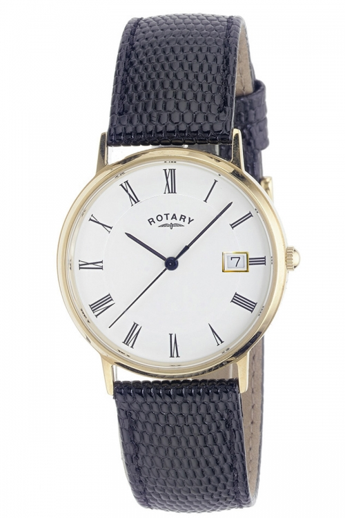 Mens Rotary 9ct Gold Watch GS11476/01