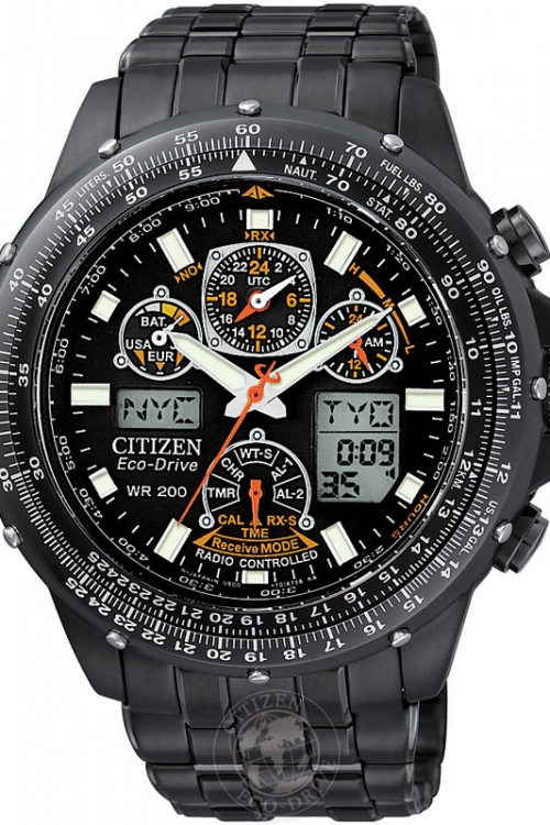 Mens Citizen Skyhawk AT Alarm Chronograph Radio Controlled Eco-Drive Watch JY0005-50E