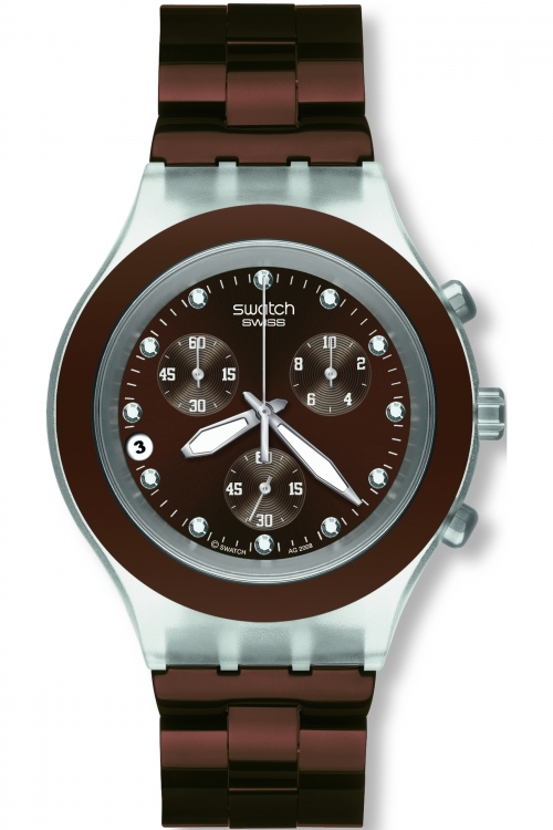 Mens Swatch Full-Blooded Earth Chronograph Watch SVCK4042AG