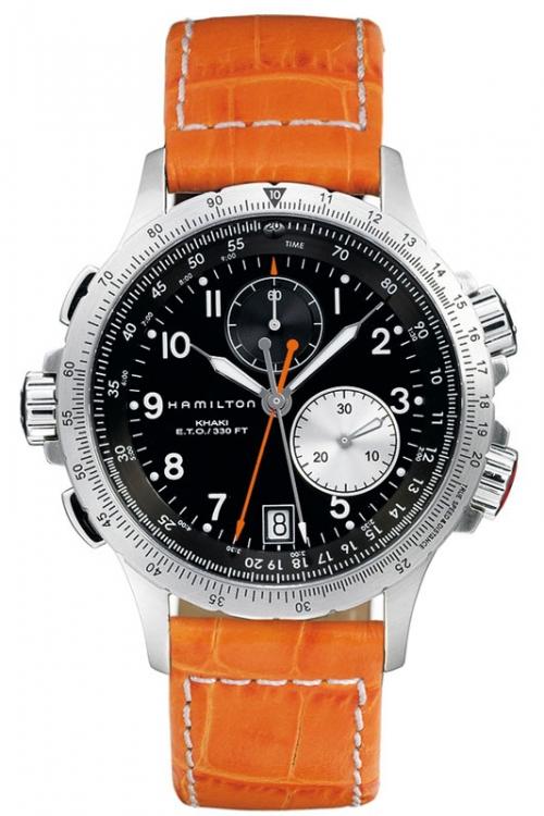 Mens Hamilton Khaki ETO Chronograph Watch H77612933