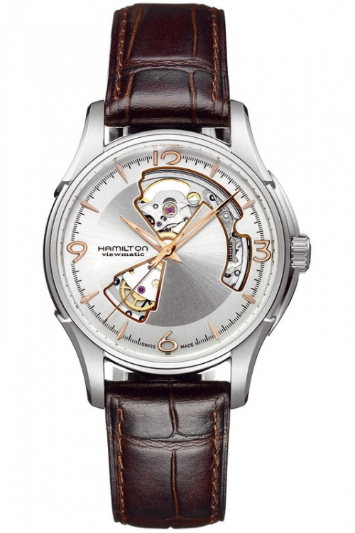Mens Hamilton Jazzmaster Open Heart Automatic Watch H32565555