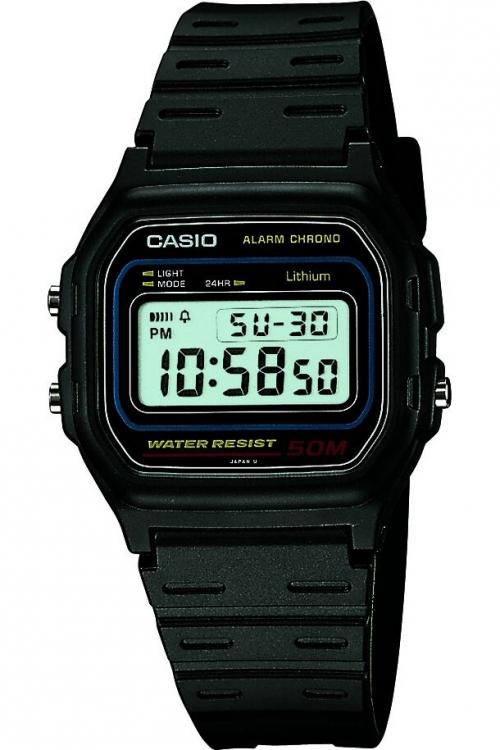 Mens Casio Retro Alarm Chronograph Watch W-59-1VQES
