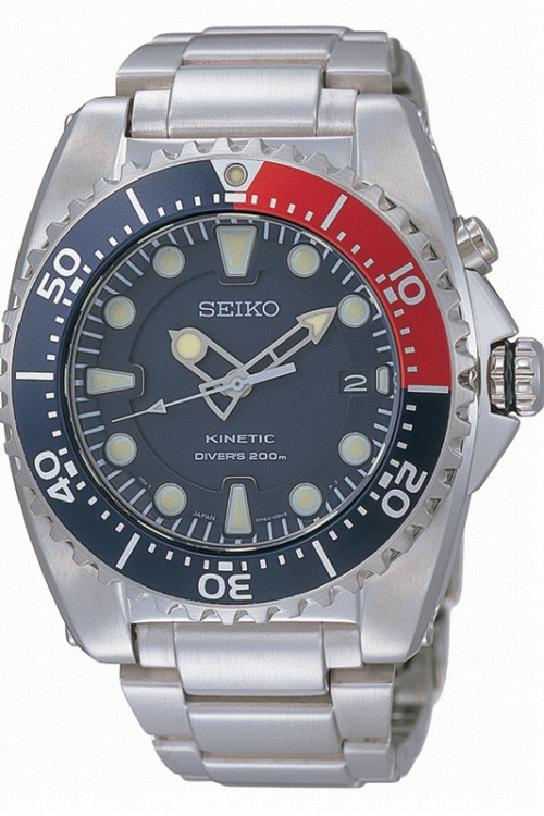 Mens Seiko Diver Kinetic Watch SKA369P1