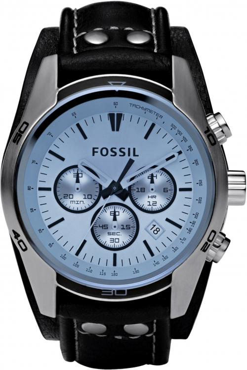 Mens Fossil Coachman Chronograph Cuff Watch CH2564