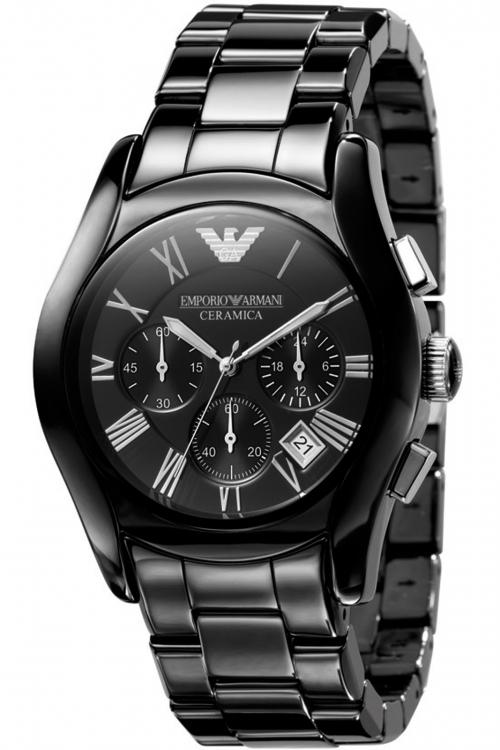 Mens Emporio Armani Ceramic Chronograph Watch AR1400