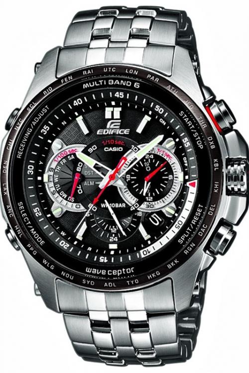 Mens Casio Edifice Wave Ceptor Alarm Chronograph Radio Controlled Watch EQW-M710DB-1A1ER