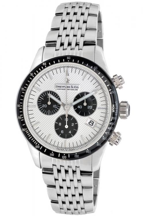 Mens Dreyfuss Co 1953 Chronograph Watch DGB00032/06