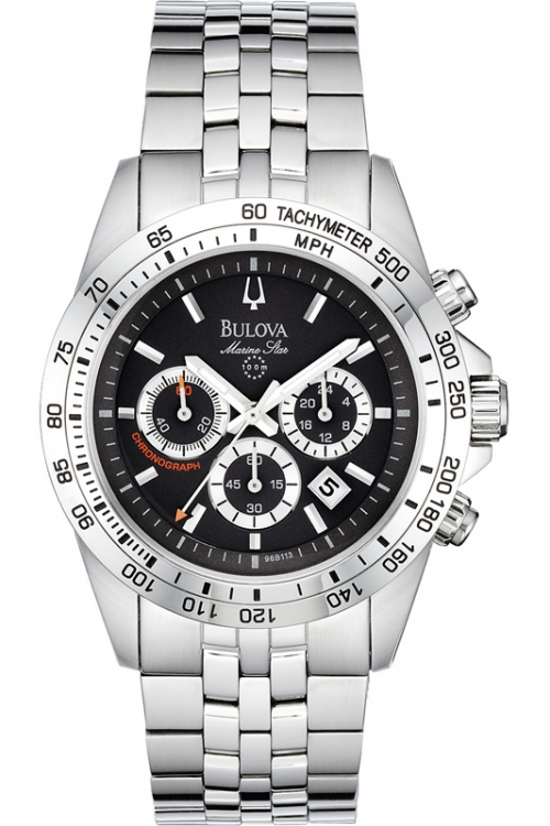 Mens Bulova Marine Star Chronograph Watch 96B113