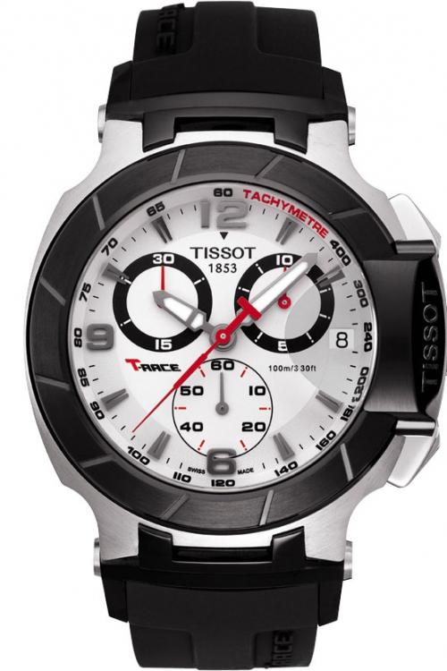 Mens Tissot T-Race Chronograph Watch T0484172703700