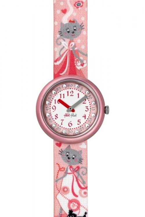 Childrens Flik Flak Romantic Cat Watch FPN037