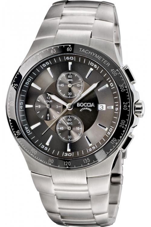 Mens Boccia Titanium Chronograph Watch B3773-01