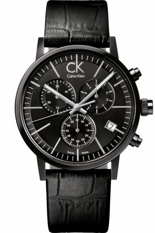 Mens Calvin Klein Post Minimal Black Collection Chronograph Watch K7627401