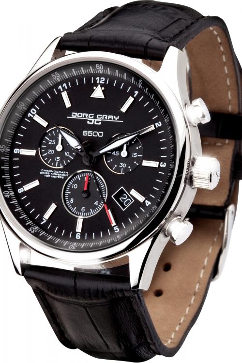 Mens Jorg Gray 6500 Swiss Chronograph Watch JG6500-44