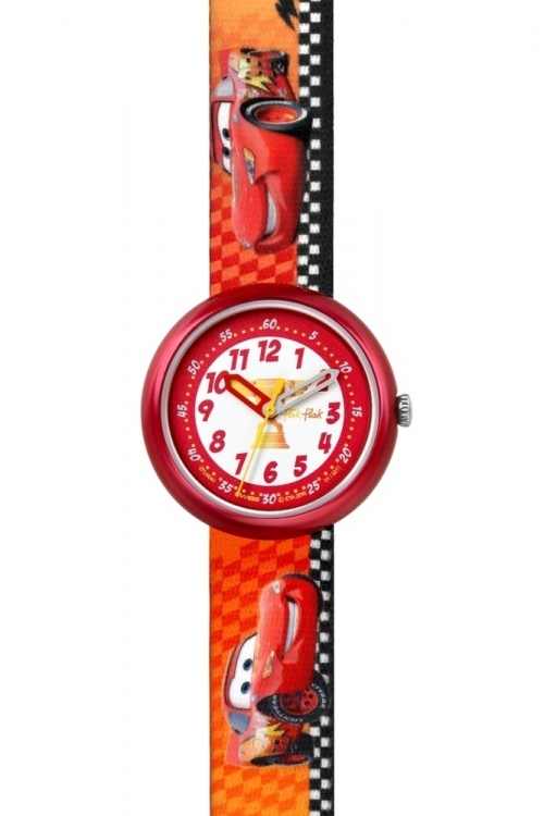 Childrens Flik Flak Disney Cars: Lightning McQueen Watch FLN041