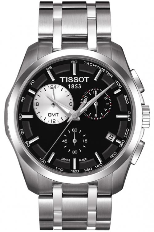 Mens Tissot Couturier GMT Chronograph Watch T0354391105100