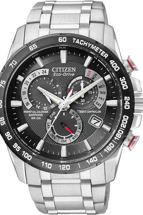Mens Citizen Chrono Perpetual A-T Alarm Chronograph Radio Controlled Eco-Drive Watch AT4008-51E