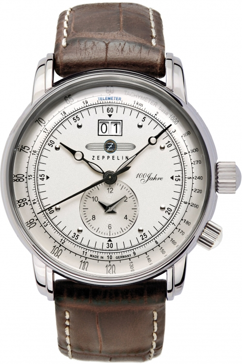 Mens Zeppelin 100 Jahre Dual Time Watch 7640-1