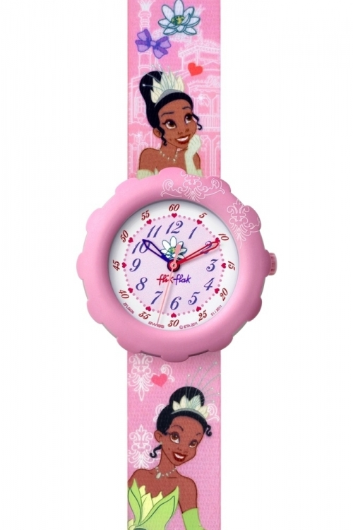 Childrens Flik Flak DISNEY PRINCESS TIANA Watch FLS026