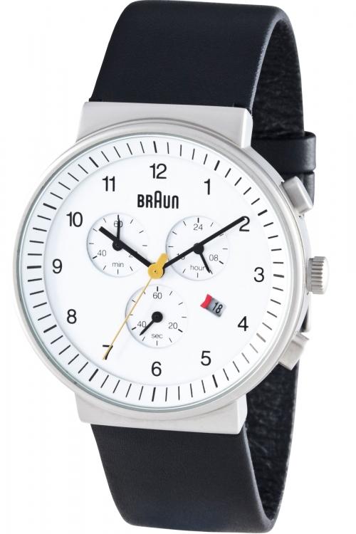 Mens Braun Chronograph Watch BN0035WHBKG
