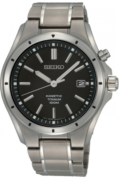 Mens Seiko Titanium Kinetic Watch SKA493P1